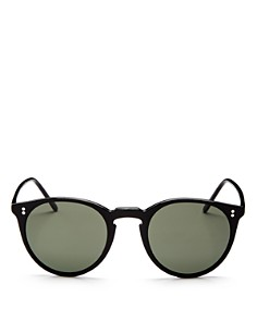 Oliver Peoples - Women's O'Malley Mirrored Round Sunglasses, 45mm