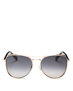 JIMMY CHOO WOMEN'S SHEENA BROW BAR SQUARE SUNGLASSES, 60MM