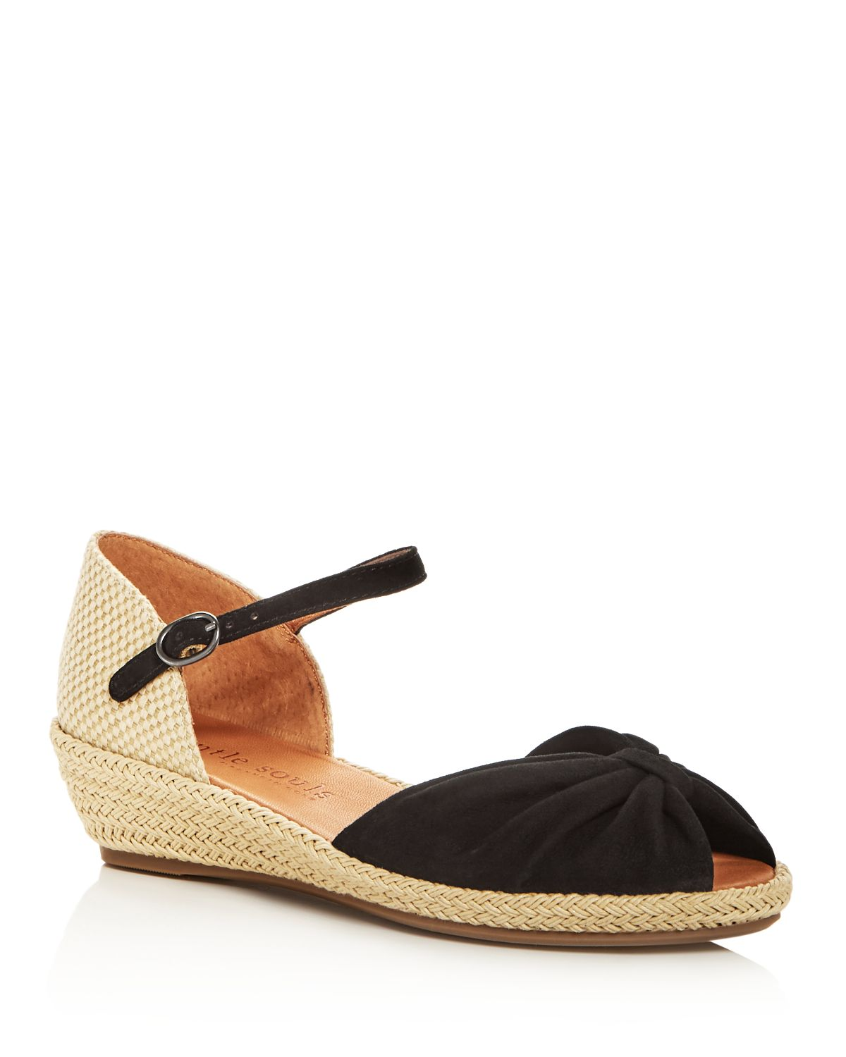Kenneth Cole Gentle Souls Women's Lucille Suede Demi Wedge Espadrille Sandals