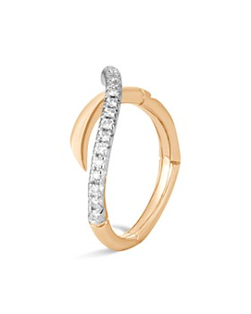 JOHN HARDY - 18K Yellow Gold Bamboo Pavé Diamond Ring