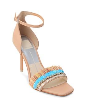 048326fdf8296 Dolce Vita - Women s Hyper Suede   Embellished Raffia High-Heel Sandals ...