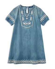 Polo Ralph Lauren Girls' Embroidered Denim Dress - Little Kid - Bloomingdale's_0