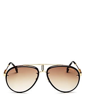 Men's Retro Brow Bar Aviator Sunglasses