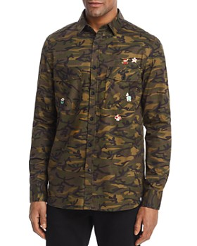 Sovereign Code - Nintendo Camouflage Regular Fit Button-Down Shirt - 100% Exclusive