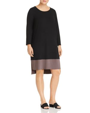Eileen Fisher Plus Color Block High/Low Dress 2860150
