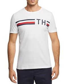 Tommy Hilfiger Striped Logo Tee - Bloomingdale's_0
