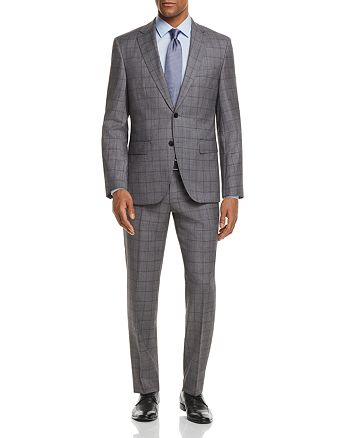 BOSS - Johnstons/Lenon Regular Fit Windowpane Suit