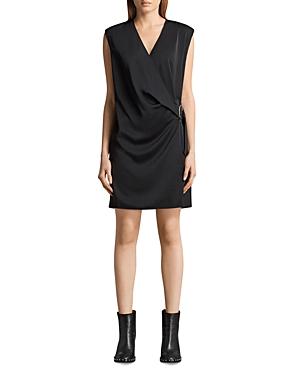 Allsaints Callie Faux-Wrap Dress