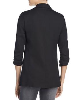 AQUA - Ruched Sleeve Blazer - 100% Exclusive