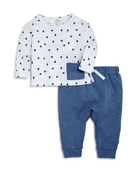 Bloomie's - Boys' Triangle-Print Tee & Jogger Pants Set, Baby - 100% Exclusive