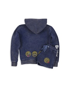Butter Girls' Embellished Emoji Hoodie & Shorts - Big Kid - Bloomingdale's_0