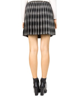 The Kooples - Pleated Check-Print Skirt