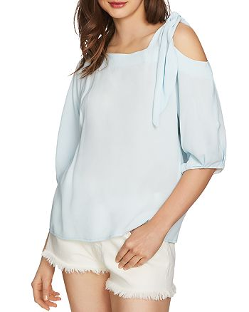 1.STATE - Asymmetric Cold-Shoulder Top