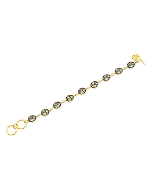 Freida Rothman Rose d\\\'Or Pave Cluster Toggle Bracelet-Jewelry & Accessories