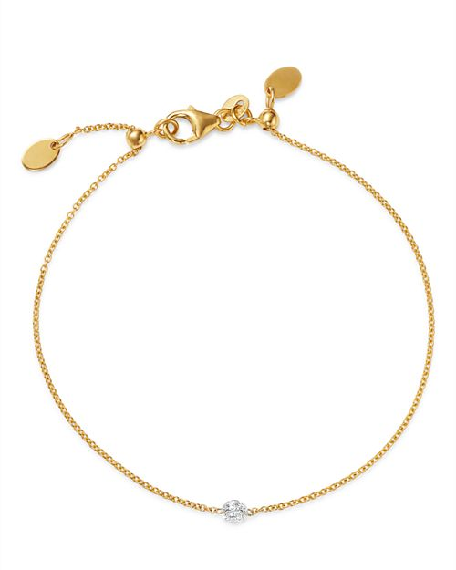 AeroDiamonds - 18K Gold Solo Diamond Bracelet