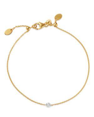 AERODIAMONDS 18K YELLOW GOLD SOLO DIAMOND BRACELET