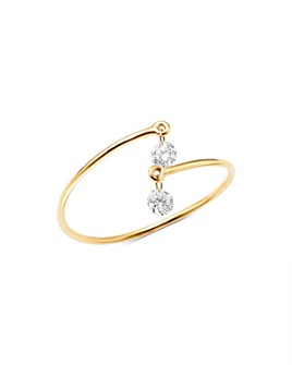 AeroDiamonds - 18K Yellow Gold Victoria Duet Diamond Open Ring