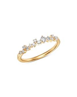 Adina Reyter - 14K Yellow Gold Scattered Diamond Row Ring