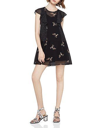 BCBGENERATION - Ruffled Mixed Print Dress