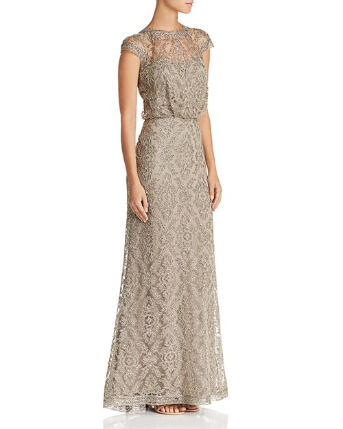 Tadashi Shoji Embroidered Blouson Gown - 100% Exclusive   Bloomingdale\'s