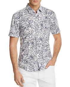 BOSS - Rid Tropical Print Regular Fit Button-Down Shirt