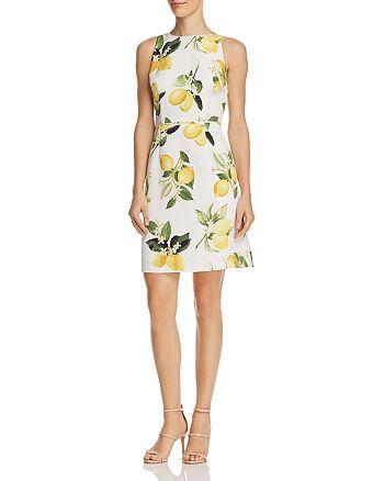 Adrianna Papell - Fresh Lemon-Print Dress