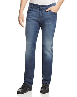 Boss Maine Straight Fit Jeans in Mid Wash