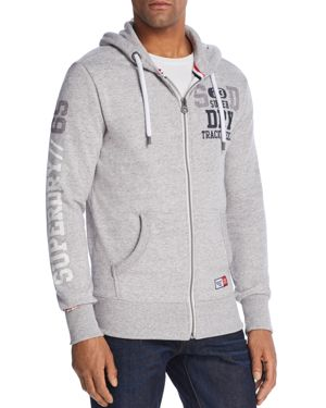 SUPERDRY ORANGE LABEL LITE LOGO ZIP HOODIE