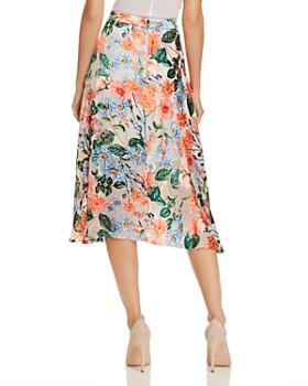 Alice and Olivia - Nanette Floral Burnout Midi Skirt