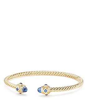 David Yurman - Renaissance Bracelet with Light Blue Sapphire in 18K Gold