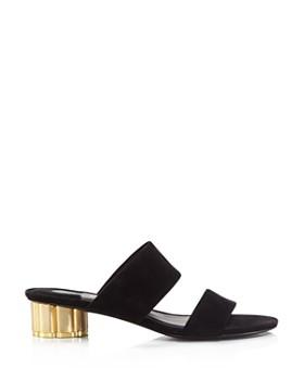 5ed987fb918 ... Salvatore Ferragamo - Women s Belluno Floral Heel Slide Sandals