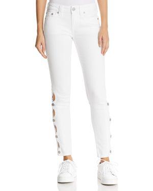 True Religion Halle Side-Snap Skinny Jeans in Optic White 2888908