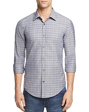 Boss Ronni Dobby Check Button-Down Shirt
