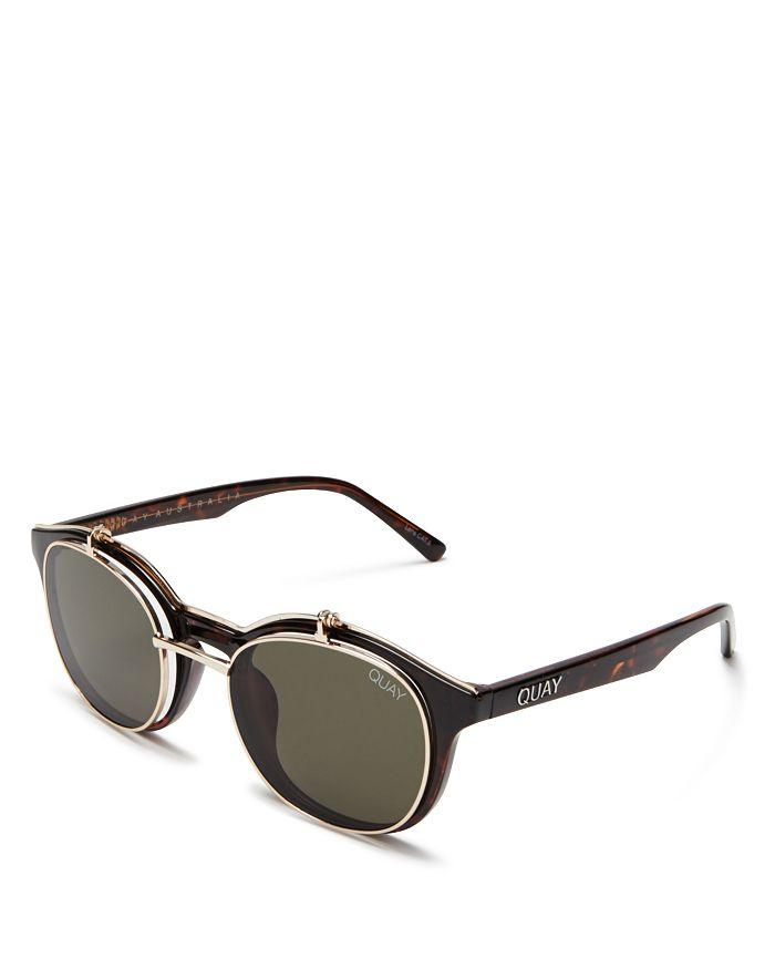 9bf1a306d6 Quay - Women s Penny Royal Oval Flip-Up Sunglasses