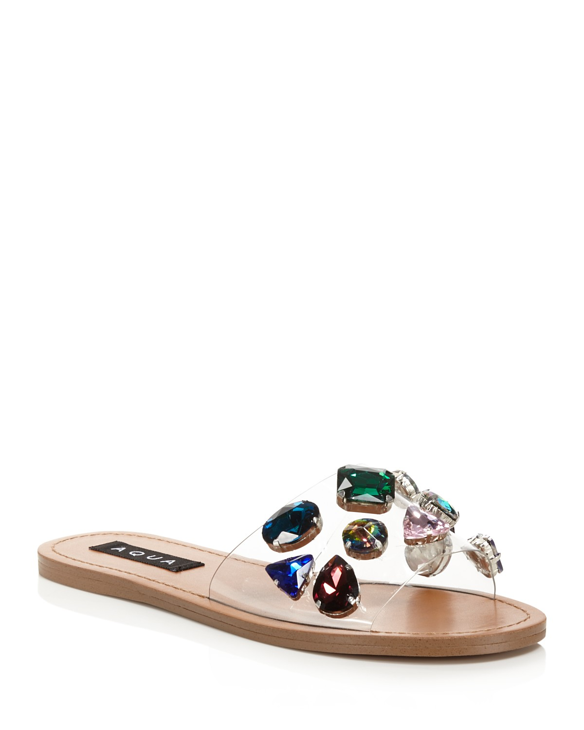 Aqua Women's Trinket Embellished Slide Sandals - 100% Exclusive J5pQSr