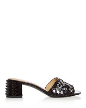 Ash - Women's Ruby Star Embellished Block Heel Slide Sandals