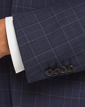 BOSS - Johnstons/Lenon Regular Fit Plaid Suit