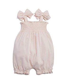 Bloomie's - Girls' Smocked Romper, Baby - 100% Exclusive