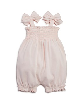 Bloomie's - Girls' Smocked Romper, Baby - 100% Exclusive
