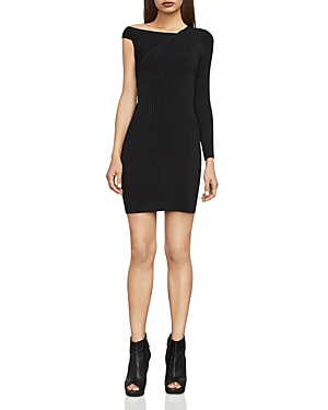 Bcbgmaxazria Karli Asymmetric Rib-Knit Dress