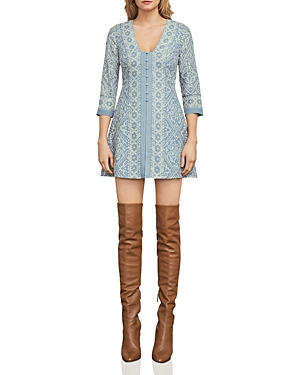 Bcbgmaxazria Jayde Embroidered A-Line Dress