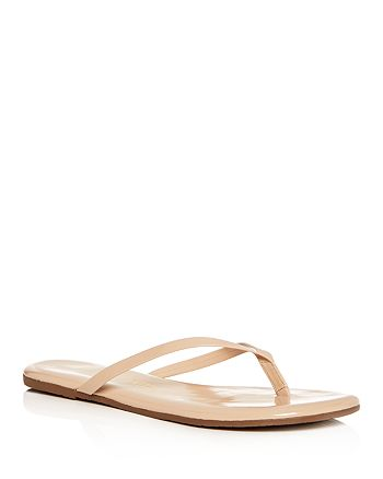 TKEES - Women's Foundations Gloss Patent Leather Flip-Flops