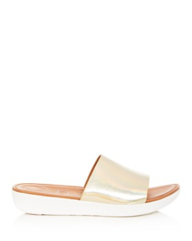 FitFlop - Women's Sola Leather Platform Slide Sandals