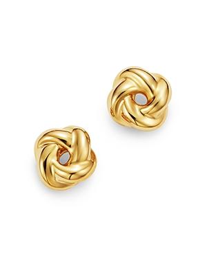 Love Knot Stud Earrings in 14K Yellow Gold