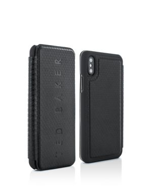 Bhait Card Slot Folio Iphone X Case, Black