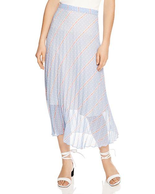Sandro - Eode Sheer-Detail Graphic Midi Skirt