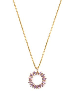 Kiki McDonough 18K Yellow Gold Juno Amethyst & Diamond Sunflower Pendant Necklace, 18