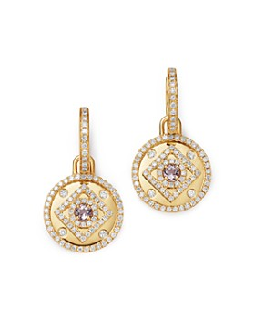 Kiki McDonough - 18K Yellow Gold Jemima Amethyst & Diamond Drop Earrings