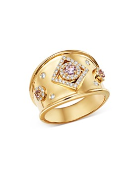 Kiki McDonough - 18K Yellow Gold Jemima Amethyst & Diamond Ring