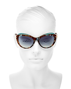 Longchamp - Women's Roseau Family Cat Eye Sunglasses, 55mm